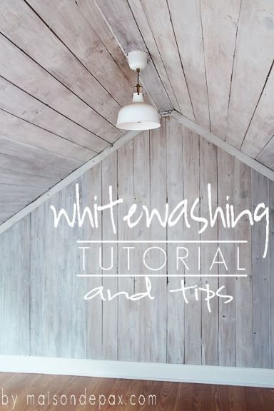 A clear tutorial and helpful tips on how to give wood a bright, beautiful whitewash... at http://www.maisondepax.com