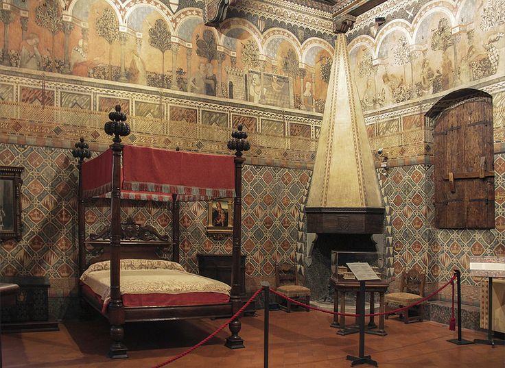 Renaissance Architecture Peacock Room Italian Building Florence Castle Beautiful Italy Interiors Stencil