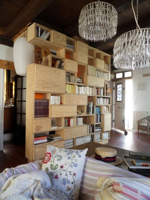 • Bibliothèque en contreplaqué pin : opc