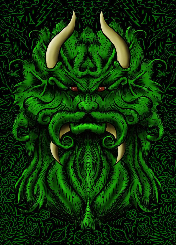Superb Green Man Revisited by kevinwsmith