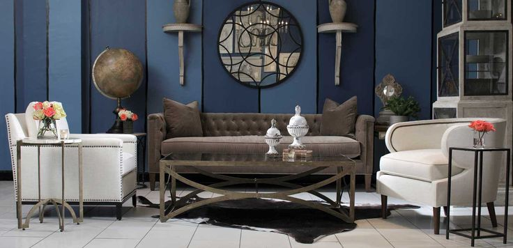 Blue Walls And Upholstered Chairs Sofas And Furniture Op Jenkins Furniture And Design Op