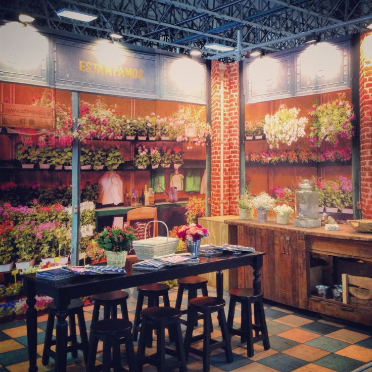 Our printed flower shop!