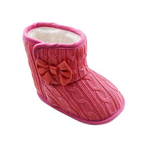 Material: Knitting Cotton + Wool Size: Fit For 3-18 Months Baby Net Weight: (Approx) 77-88?g Weixinbuy Toddler Girls Fleece Woollen Fur Knitted Bowknot Snow Boot