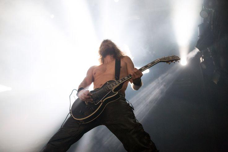 Enslaved. Performing live at Øyafestivalen Oslo.