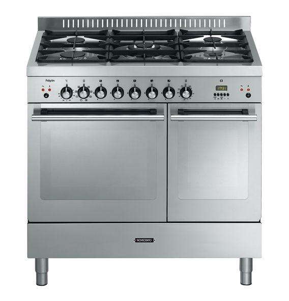 Pelgrim NF950BRVSA gasfornuis 90 cm met electo oven 5 pits - keuken en keukens webshop