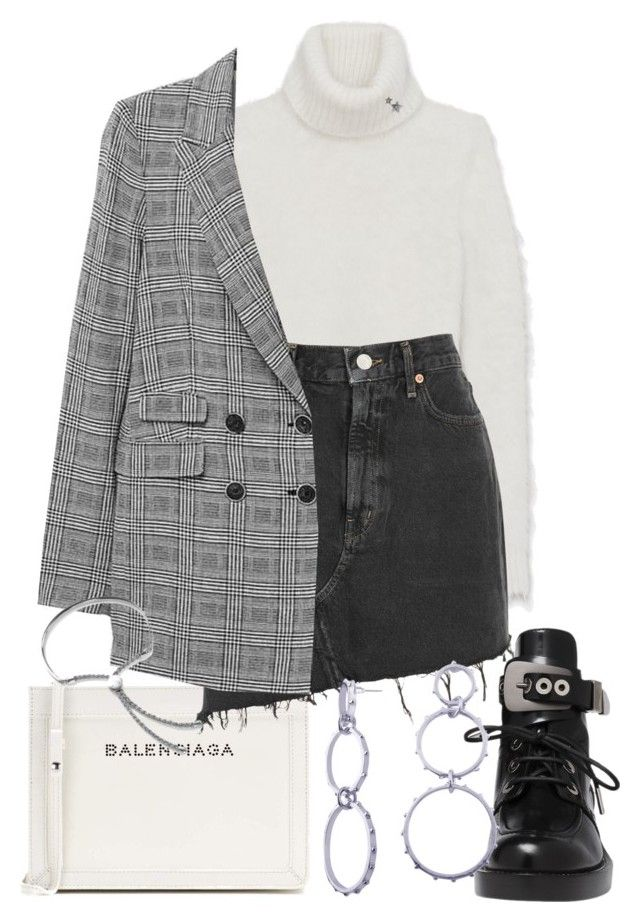 """Untitled #2641"" by mariie0h ❤ liked on Polyvore featuring Balenciaga, Yves Saint Laurent, AGOLDE and Monica Vinader"