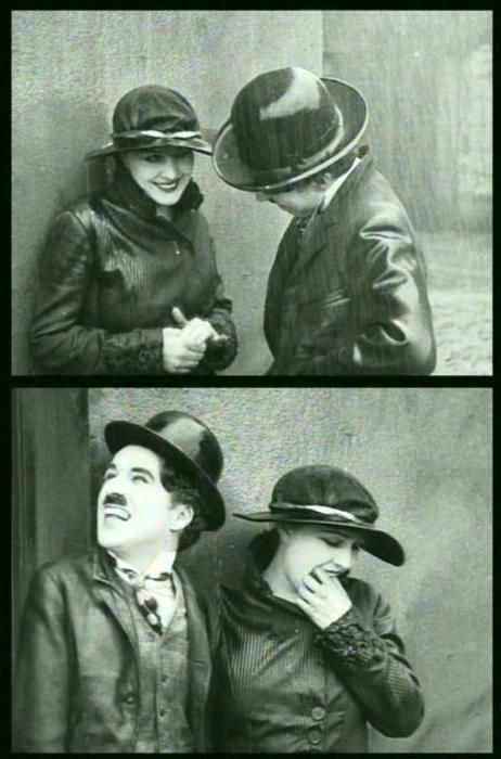 Charlie Chaplin & Edna Purviance in The Immigrant 1917