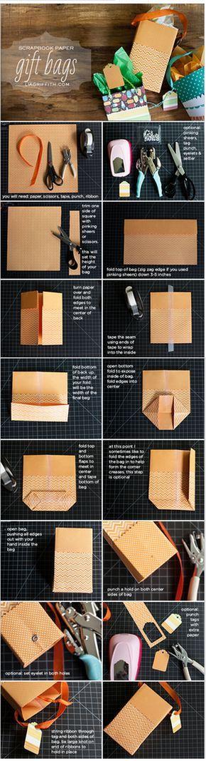 come fare a creare un sacchetto di carta #faidate #sacchetto #regali #fototutorial