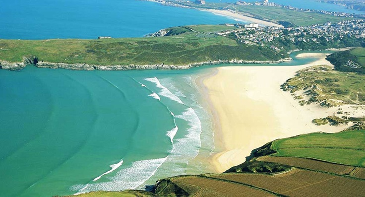 Fabulous view of Crantock and Pentire Headland