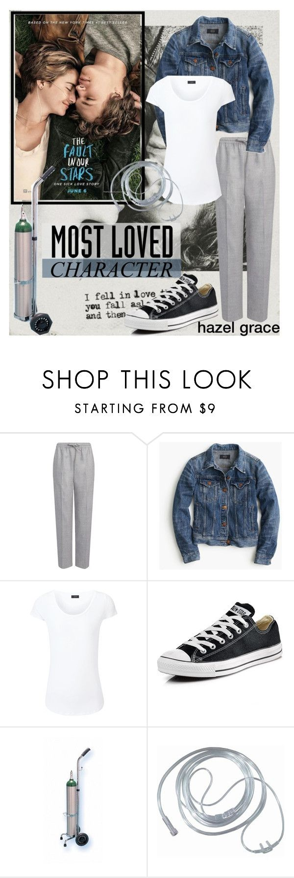 """hazel grace-shailene woodley"" by ginafhr ❤ liked on Polyvore featuring Joseph, J.Crew, Converse, outfit, tumblr, tfios and polyvorecontest"