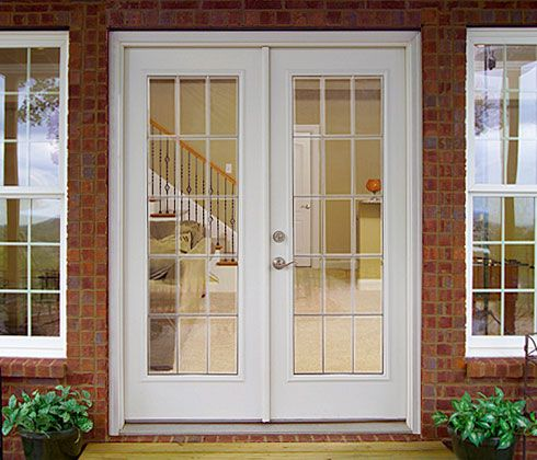 Best 25 exterior french patio doors ideas on pinterest for Exterior french doors with side windows