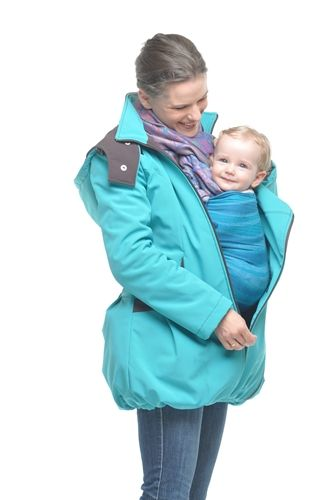 4in1 Babywearing Winter Coat Maternelle.  Winter coat for front carrying, back carrying, normal use and during pregnancy.
