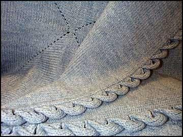Mitred Afghan with  Pie Crust Edging: