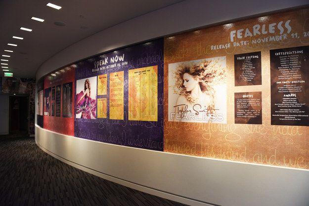 An EPIC discography timeline, spanning her entire career from 2006's debut self-titled album to 2014's smash-success 1989 from The Taylor Swift Experience in The Grammy Museum.