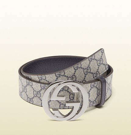 Gucci - belt with interlocking G buckle 114984H9V3N8624