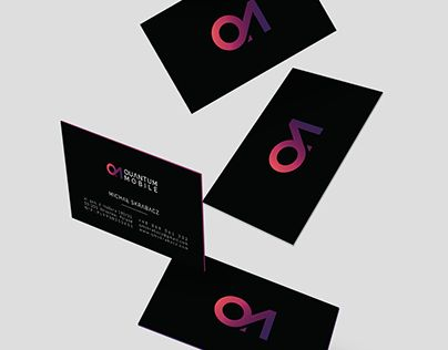 """Check out new work on my @Behance portfolio: """"Quantum Mobile"""" http://on.be.net/1jX6Cx9  // graphic design logo branding  business card corporate identity poster www //"""