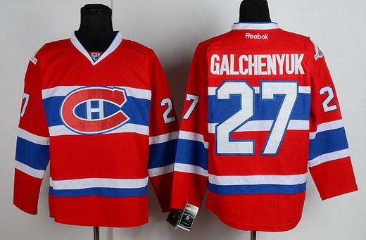 Montreal Canadiens #27 Alex Galchenyuk Red NHL Jerseys