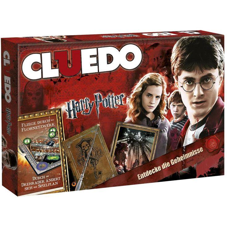 Harry Potter - Cluedo  - Spieldauer ca. 50 Min.  - Deutsche Originalausgabe. - Brett Maße: ca. 40 x 27 x 5,2 cm - Gewicht: 850 g - Spieler: 3-5 - Empfohlen für Jahre: 9+  Ein Freund ist verschwunden! In der Rolle von Harry, Ron, Hermine, Ginny, Luna oder Neville musst du herausfinden, WER dahinter steckt, WOMIT es geschah und WO der Schüler angegriffen wurde.   Fliege durch die Kamine der Zauberwelt, aber Vorsicht: Die Zugänge zum Flohnetzwerk ändern sich durch Drehscheiben und vielleicht…