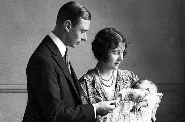 A Queen Is Born  On April 21, 1926, the Duke and Duchess of York (later King George VI and Queen Elizabeth, the Queen Mother) welcomed their daughter Elizabeth Alexandra Mary to the world. Shortly after, the family was photographed with baby Elizabeth cloaked in a christening robe, which had been used in the Royal Family for generations.