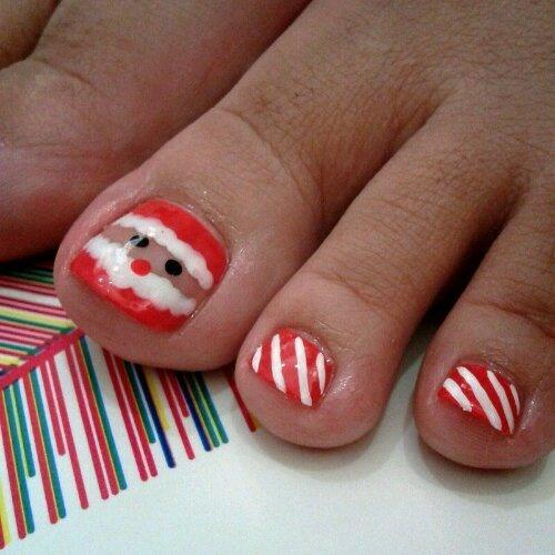 Christmas nail art - Santa