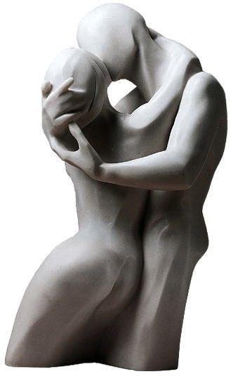 "Bernard Kapfer Skulptur ""Der Kuss"" Version in Kunstmarmor                                                                                                                                                      Mehr"