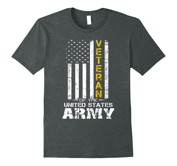 Veteran of United States US Army t-shirt military Gold tee