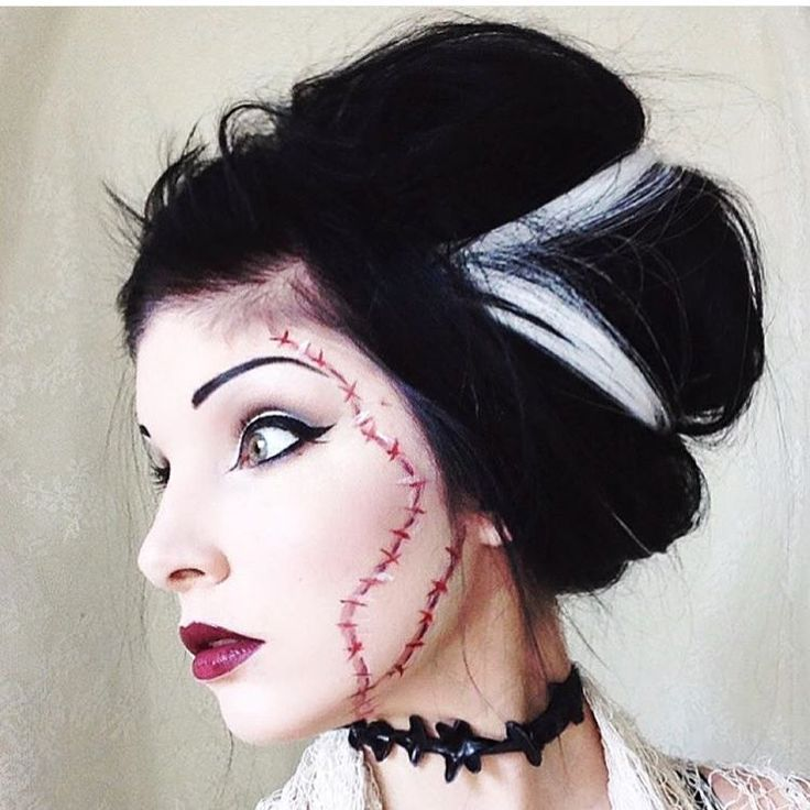 """LunatiCK Cosmetic Labs  on Instagram: """"@loudnight giving us some Bride Of Frankenstein realness. Eyes/face using our contour kit. Keep these looks going! #lunatickcosmeticlabs to be featured! We love seeing your amazing work!!!!!"""""""