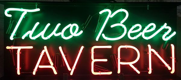 Two Beer Tavern Custom #Neon Bar Sign  http://www.neonandmore.com/neon-signs/custom-neon-signs.html