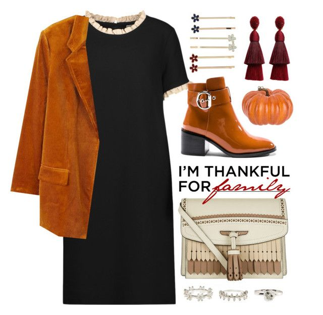 """I'm Thankful For My Family "" by jaeim ❤ liked on Polyvore featuring Goat, MANGO, Jeffrey Campbell, Burberry, Oscar de la Renta, New Look, Accessorize and thanksgiving"
