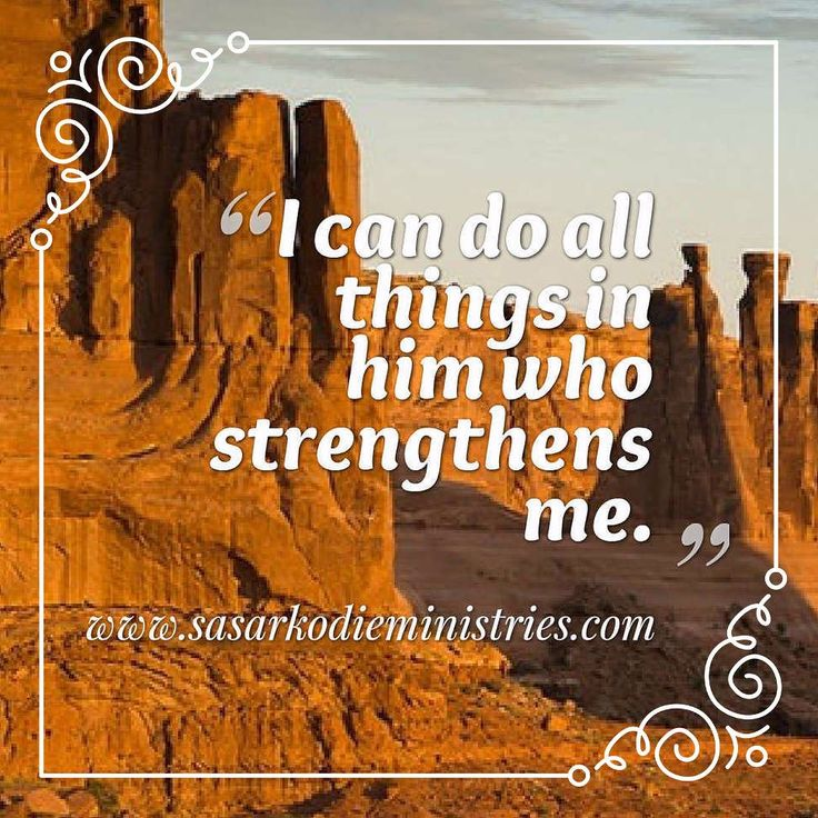 "I can do all things in him who strengthens me.(Phil. 4:13 RSV)  A dear sister said one day: ""I have so much work to do that I have not time to get strength to do it by waiting on the Lord."" Surely that was making bricks without straw and even if it was the name of the Lord and the church it was the devil's bondage.  God sends not His servants on their own charges; but ""He is able to make all grace abound towards us that we always having all sufficiency in all things may abound unto every…"