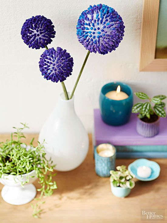 Making The Rounds Crafting Flower Crafts Diy Flowers Styrofoam Ball Crafts