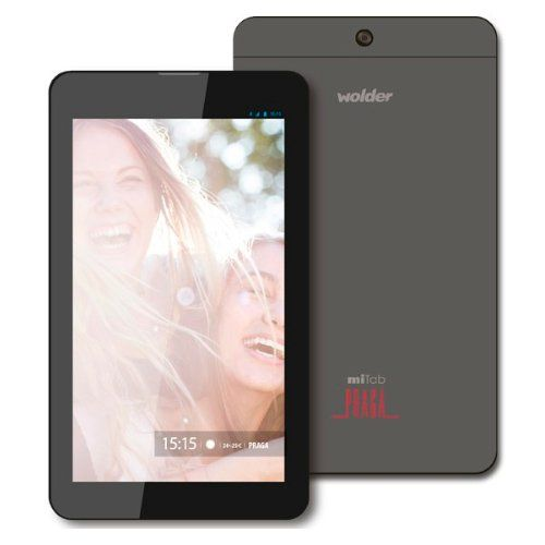 "cool Wolder D01TB0227 - Tablet de 7"" (Quad Core A33 a 1.3GHz, 1 GB de RAM, 8 GB, Android 5), gris"