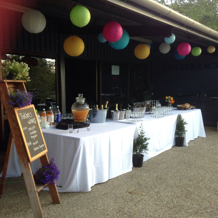 Drinks on the lawn from our terrace bar after garden ceremony