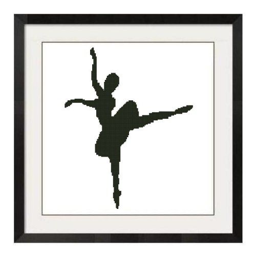 ALL STITCHES - BALLERINA SILHOUETTE CROSS STITCH PATTERN .PDF -449
