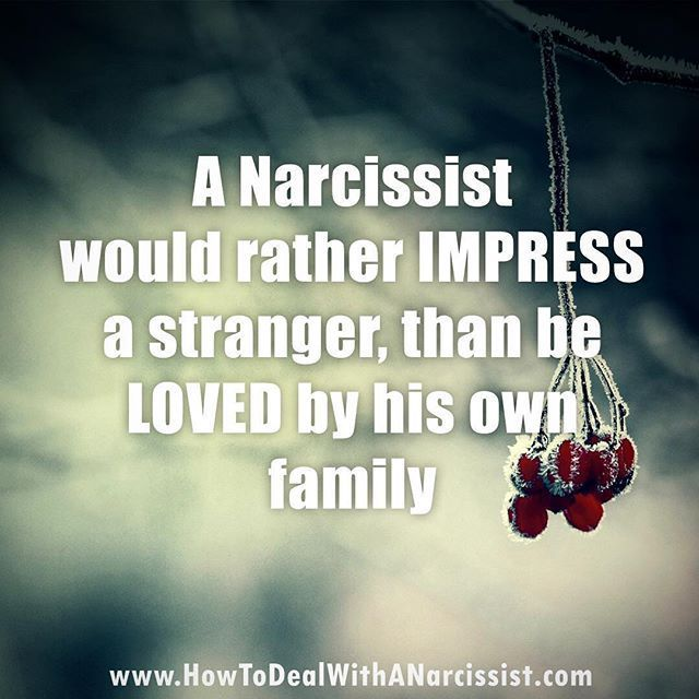 The narcissist is only ever concerned with the look of the thing...