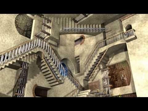 ▶ MC Escher's Relativity w/ Anaglyph 3D - YouTube