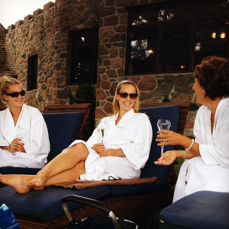 Guests Lori, Courtney & Noelle settling in for a night at the spa...