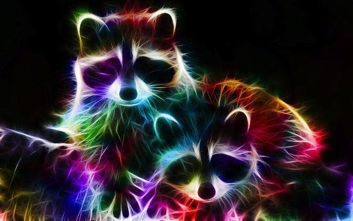 Prachtige kleurrijke digitale illustraties van dieren