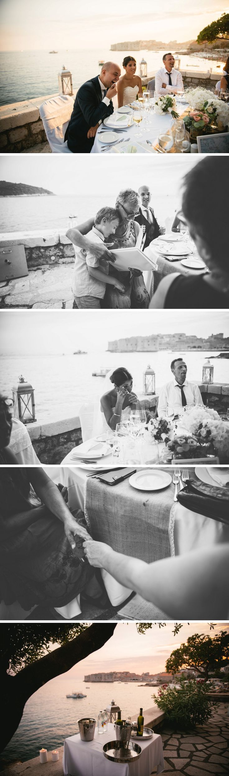 Wedding reception in the Excelsior hotel in Dubrovnik with a view on the bay and the castle - Croatia destination wedding - Zephyr & Luna photograhy