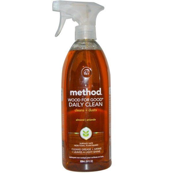 """Method, Ежедневное очищающее средство для деревянных предметов """"Wood For Good"""", с миндалем, 28 жидких унций (828 мл)"""