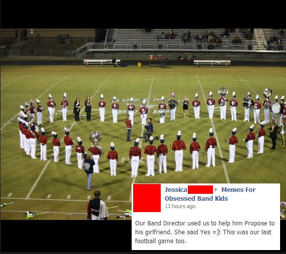 How every band geek girl wants to be proposed to!