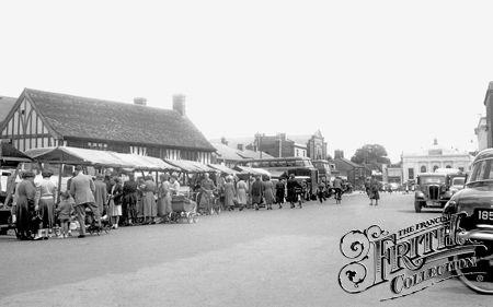 Market Square c1955, Biggleswade