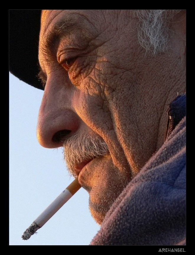 an old man_thinking