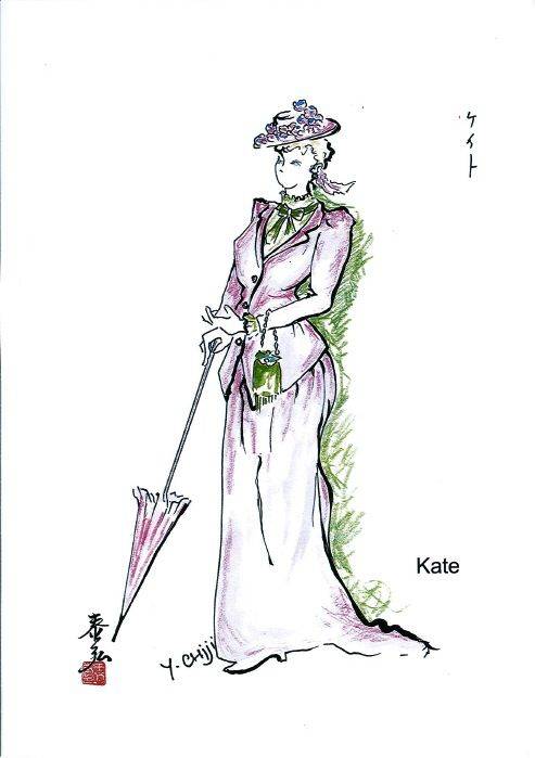 Costume sketch for Kate