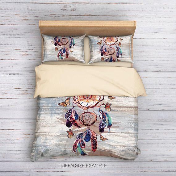 Christmas Sale,Dream catcher Bedding,Bohemian Bedding,Boho Bedding,Bohemian Duvet Cover,Hippie Bedding,Boho Duvet cover,Queen Bedding,