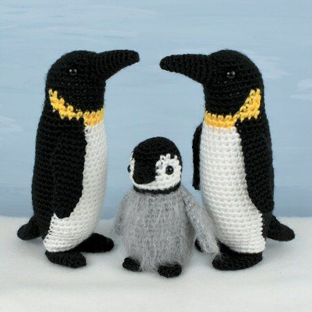 Emperor Penguin Family crochet patterns Maybe for Annmarie.