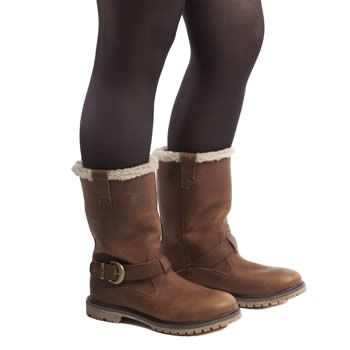 Womens Tan Timberland Nellie Pull-On Waterproof Boots