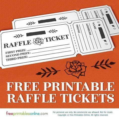 The 25+ best Free raffle ticket template ideas on Pinterest - printable ticket template free