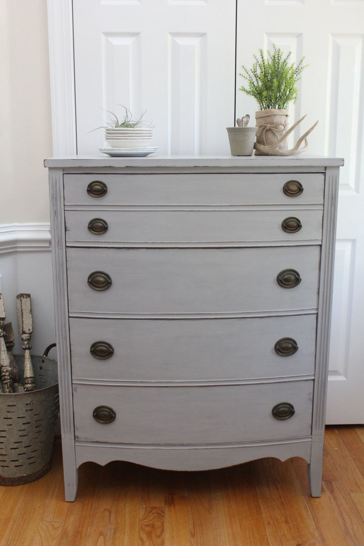 Vintage Chest of Drawers - Annie Sloan Chalk Paint - Paris Grey - Dresser by…