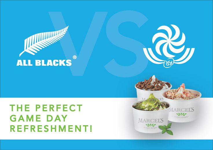 T.G.I.F! Finally the weekend is here! Tonight at 21:00 New Zealand take on Georgia. Will you be watching? Pop in at our kiosk before 19:00 to get the whole family some scrumptious treats for the game!  #RWC2015 #NewZealandvsGeorgia #rugby #refreshment #frozenyoghurt